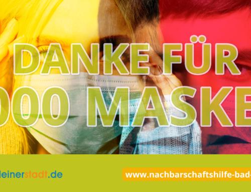 1.000 Masken genäht!