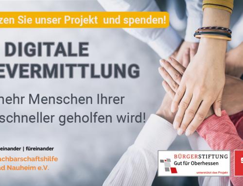 Liebe Wetterauer: Bitte unterstützt uns!